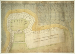 A Plan of Aymouth, or Eyemouth, [Berwickshire] taken in 1557, in which year it was fortified by Henri Clutin, Sieur d'Oysell et de Ville Parisis